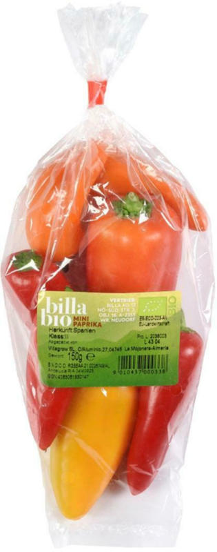 BILLA Bio Mini Paprika aus Spanien