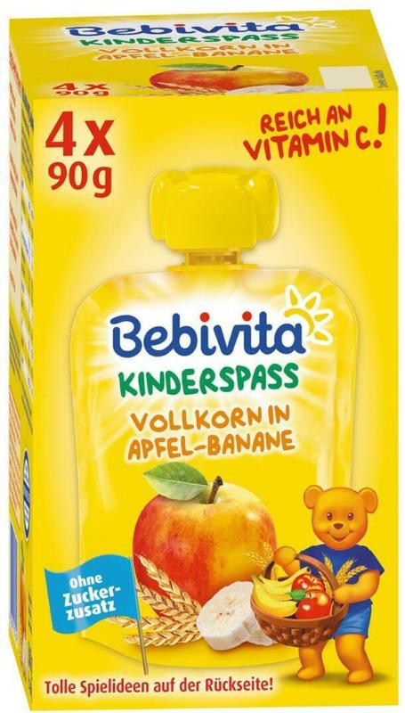 Bebivita Kinderspaß Vollkorn in Apfel-Banane
