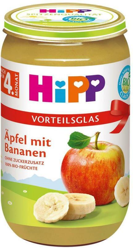 Hipp Äpfel mit Bananen Vorteilsglas