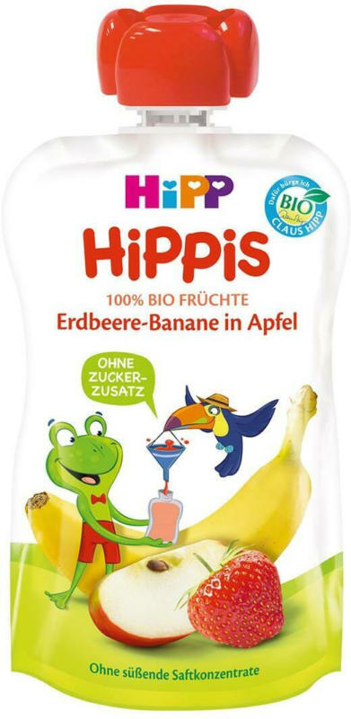 Hipp Hippis Erdbeere-Banane in Apfel