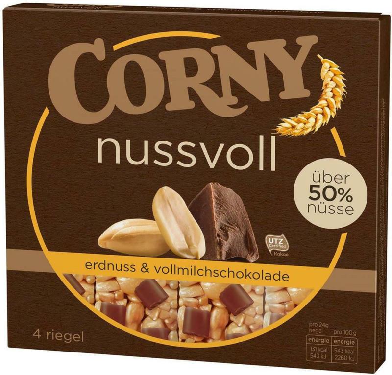 Corny Nussvoll Erdnuss & Vollmilch