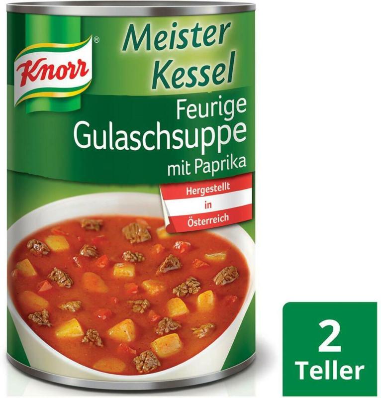 Knorr Meisterkessel Feurige Gulaschsuppe