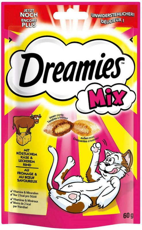 Dreamies Mix mit köstlichem Käse & leckerem Rind