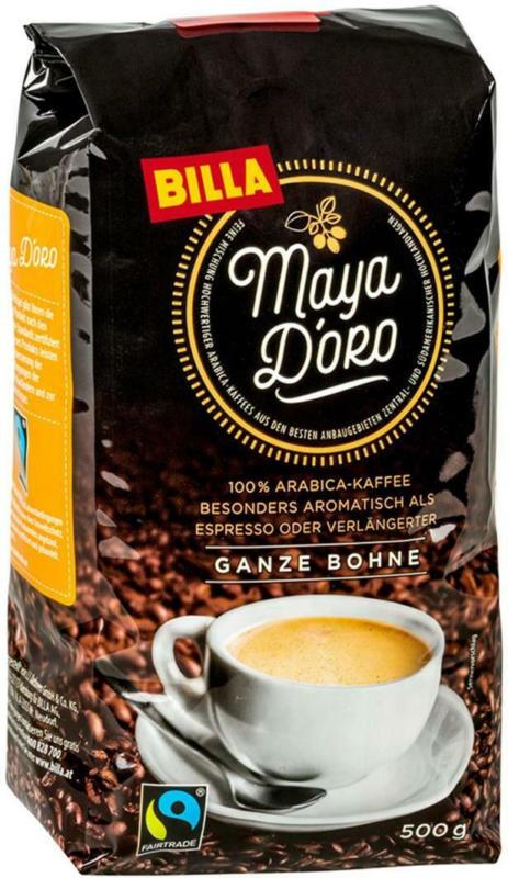 BILLA Maya D'oro Ganze Bohne