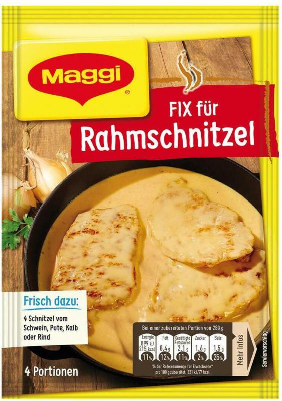 MAGGI Fix für Rahmschnitzel