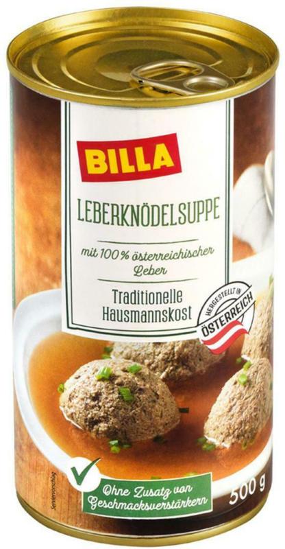BILLA Leberknödelsuppe