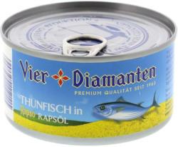 Vier Diamanten Thunfisch in Rapsöl