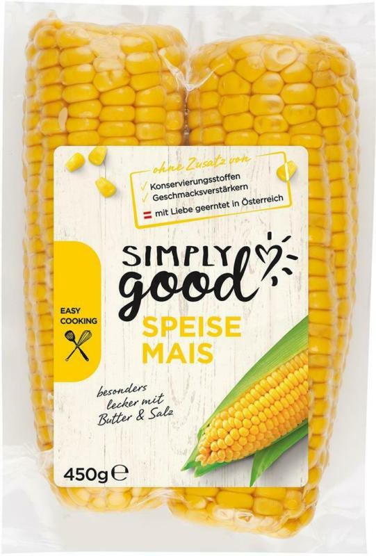Simply Good Speisemais gegart 2 Stück aus Österreich