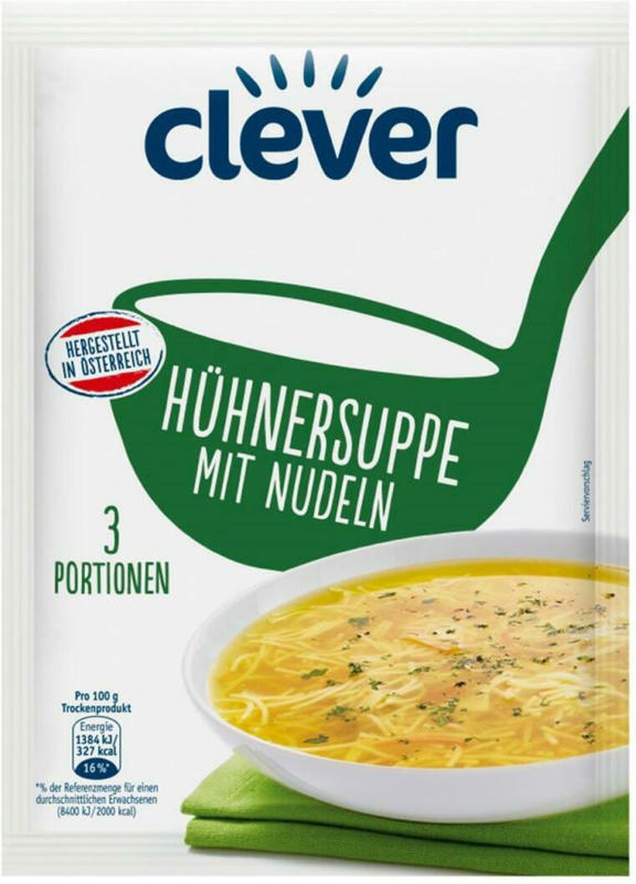 Clever Hühnersuppe mit Nudeln