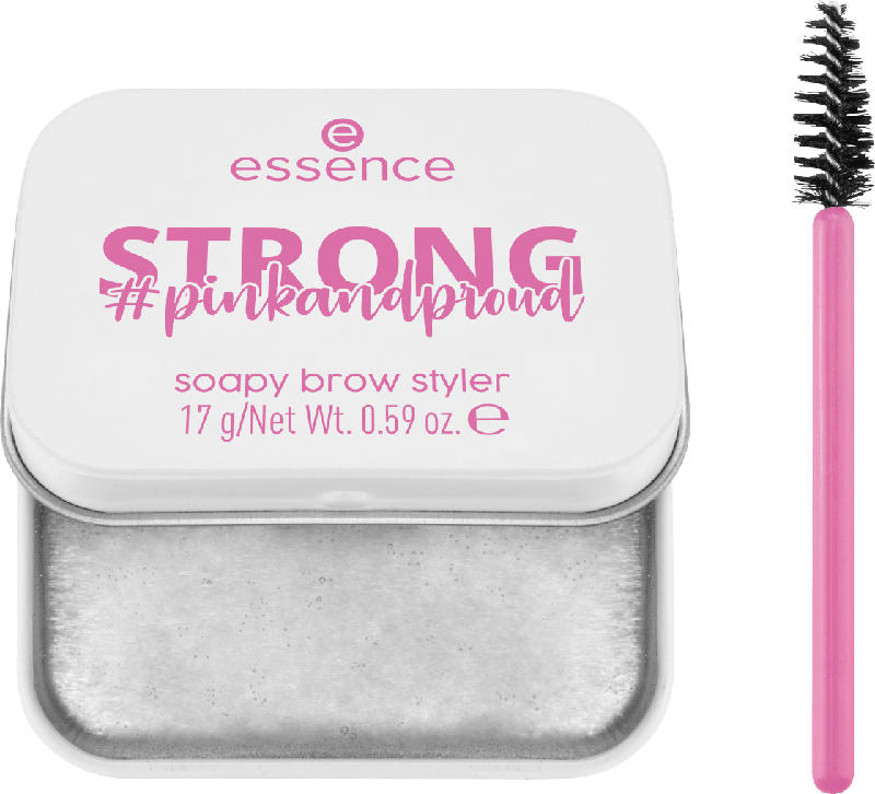 essence cosmetics Augenbrauenseife pinkandproud STRONG soapy brow styler Stronger Than Yesterday! 01