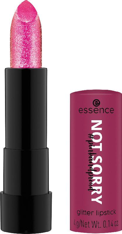 essence cosmetics Lippenstift pinkandproud NOT SORRY! 01 glitter lipstick Sorry