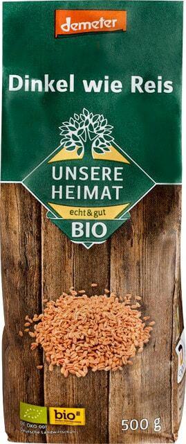 Unsere Heimat - echt & gut Bio Dinkel wie Reis