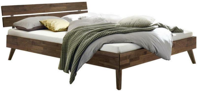 Bett 140/200 cm in Nussbaumfarben