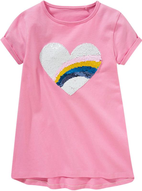 Mädchen T-Shirt mit Wendepailletten (Nur online)