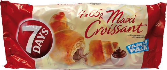Maxi Croissants mit Kakaocremefüllung