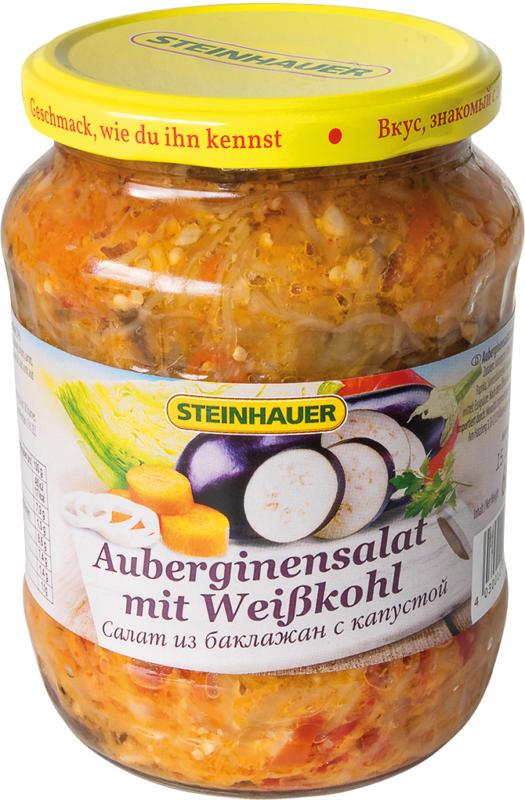 Auberginensalat mit Weißkohl