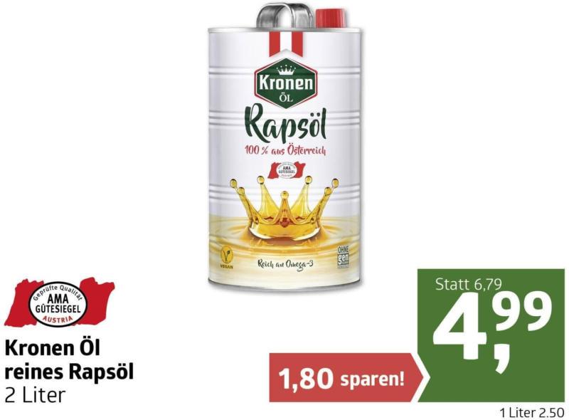 Kronen Öl reines Rapsöl