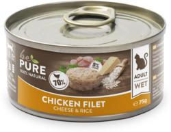 bePure Katzennassfutter Adult Huhn mit Käse & Reis 24x75g