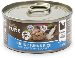 bePure Katzennassfutter Senior Thunfisch & Reis 24x75g