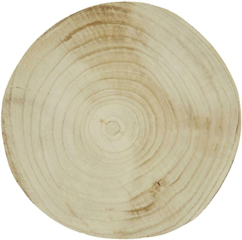 Dekotablett Spinn in Hellbraun Ø ca.30cm