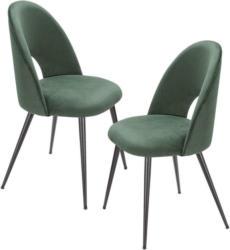 Stuhl-Set in Textil Grün