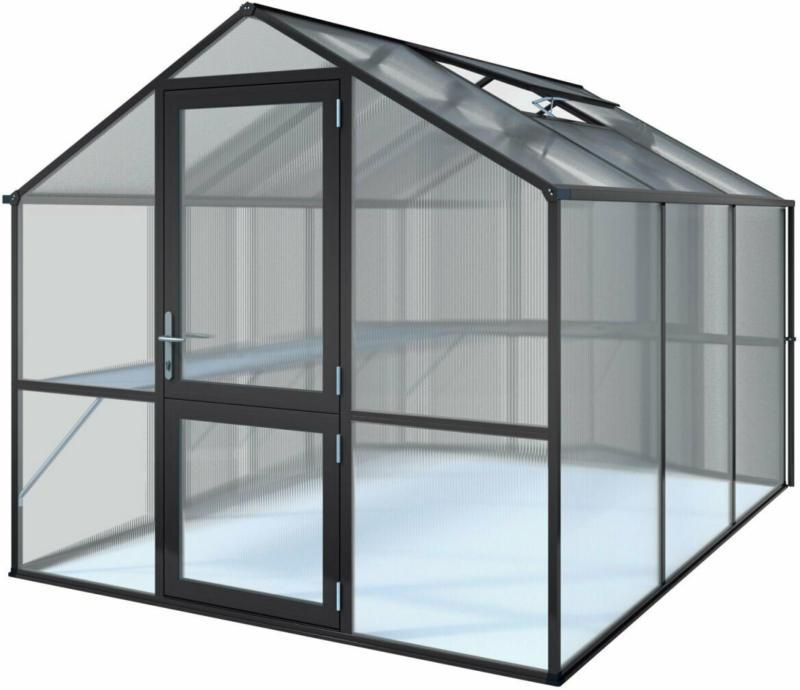 """Gewächshaus """"Rose III"""", 7,5m², schwarz schwarz"""