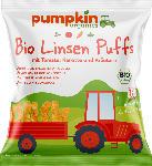 dm-drogerie markt pumpkin organics Snack Linsen Puffs mit Tomate, Karotte & Kräutern