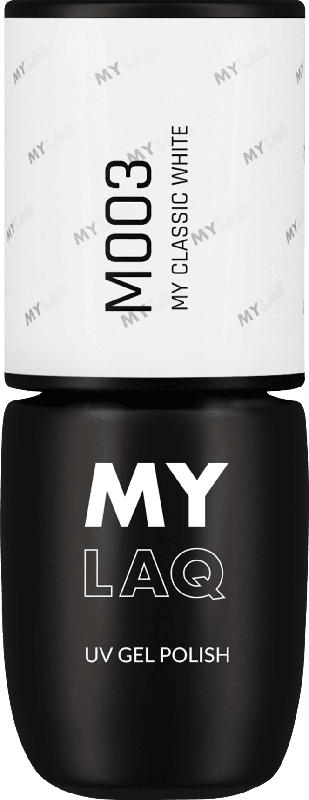 MYLAQ UV Nagellack MY CLASSIC WHITE