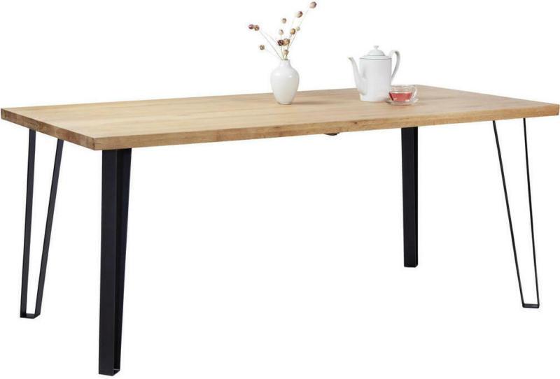 Esstisch in Holz, Metall 180/90/76 cm