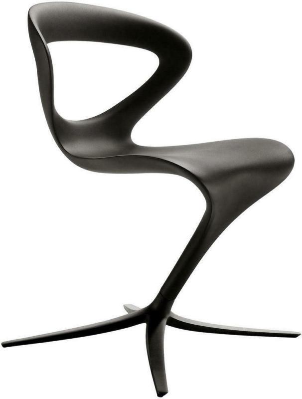 Stuhl in Kunststoff Schwarz