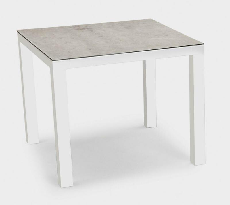 """Tisch """"Houston"""" 90x90 cm, weiß/silber Weiß"""