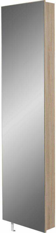 """Drehschrank """"Ordnung"""", mit Spiegelfront, 50x195x18 cm, Sonoma-Eiche-Nachbildung"""