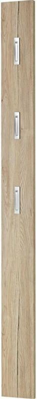 """Garderobenpaneel """"Home"""", mit ausklappbaren Kleiderhaken, 15x170x4 cm, Sanremo-Eiche-Nachbildung"""