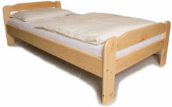 Einzelbett mit Lattenrost, 90x200 cm 90x51 (65)x200 cm