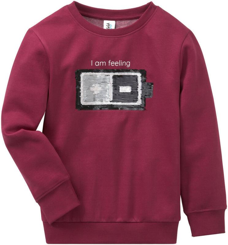 Jungen Sweatshirt mit Wendepailletten (Nur online)