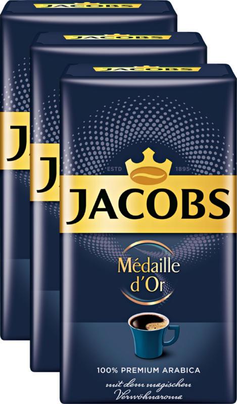 Jacobs Kaffee Médaille d'Or , gemahlen, 3 x 500 g