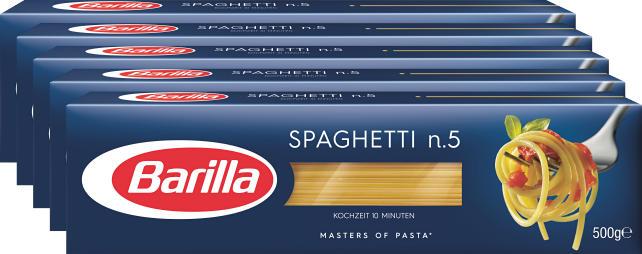 Spaghetti n. 5 Barilla, 5 x 500 g