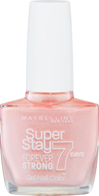 Maybelline NY Nagellack, Superstay Forever Strong, 7 Days, 78 Porcelain, 1 Stück