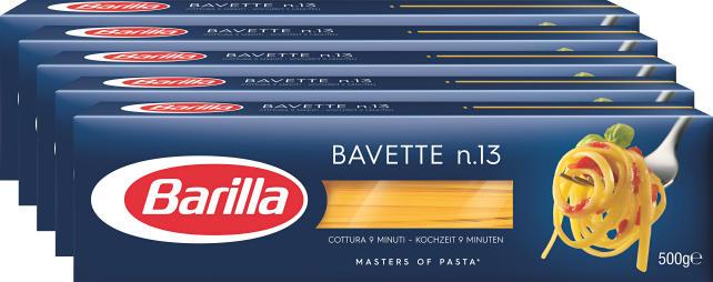 Bavette n. 13 Barilla, 5 x 500 g