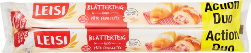 Pasta sfoglia Original Quick Leisi, rotonda, ∅ 32 cm, 2 x 230 g