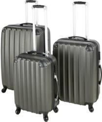 Reisekoffer Set 3-Teilig. Jumbo 4 Rollen Hartschale