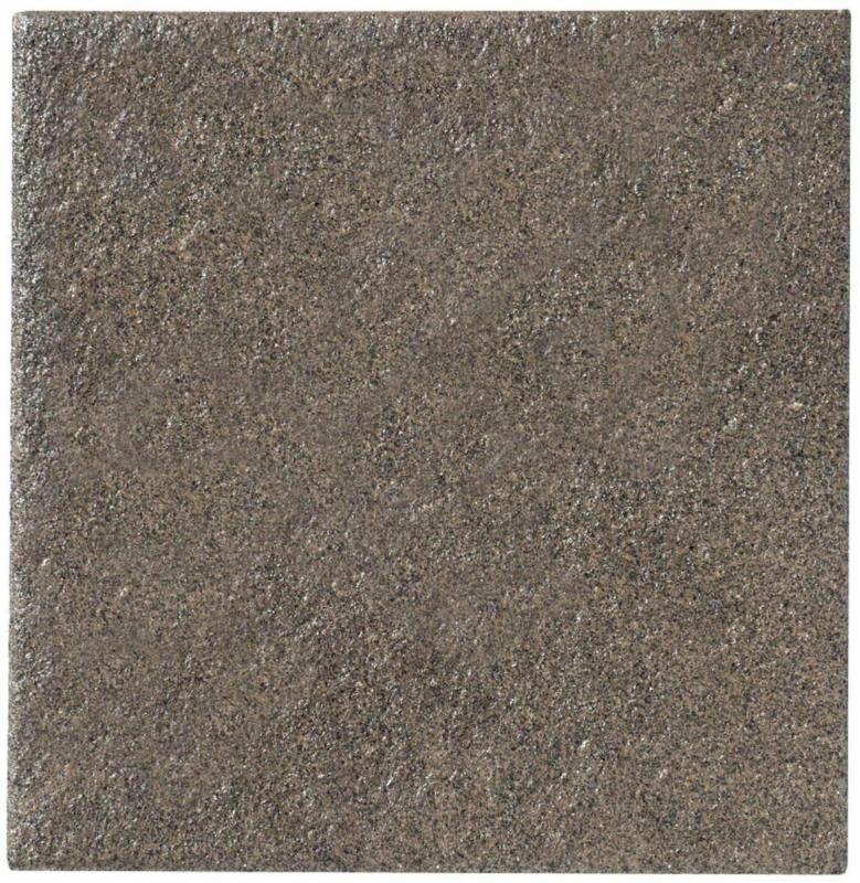 """Terrassenplatte """"No.1 Diamant"""", 40x40x4 cm, Schwarz-braun 40x40 cm"""