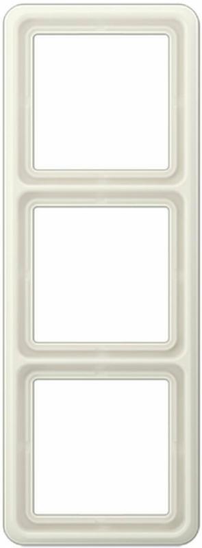 """Abdeckrahmen """"CD 500"""", weiß, 3-fach 3   weiß"""