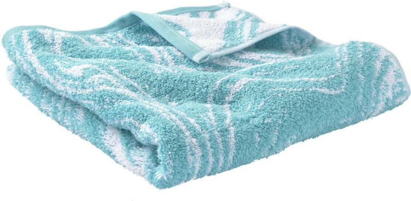 Handtuch mit marmoriertem Muster (Nur online)