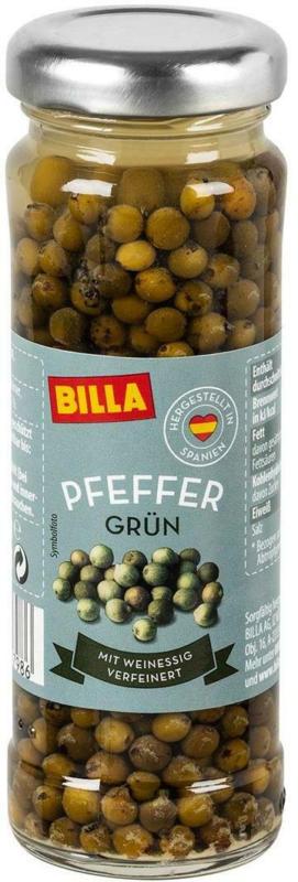 BILLA Pfeffer Grün
