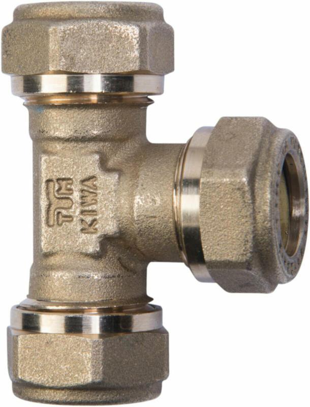 Messing T-Stück, Ø 15 mm
