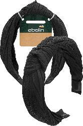 ebelin Haarreif schwarz Plisseestoff