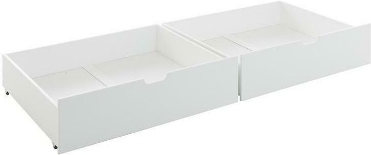 Bettschubkasten Karlson 2-er Set Weiß
