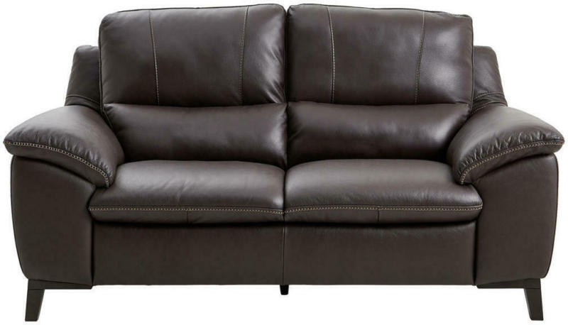 Zweisitzer-Sofa in Leder Dunkelbraun