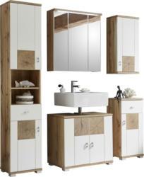 Badezimmer in Weiß/ Eichefarben ´Spalt´